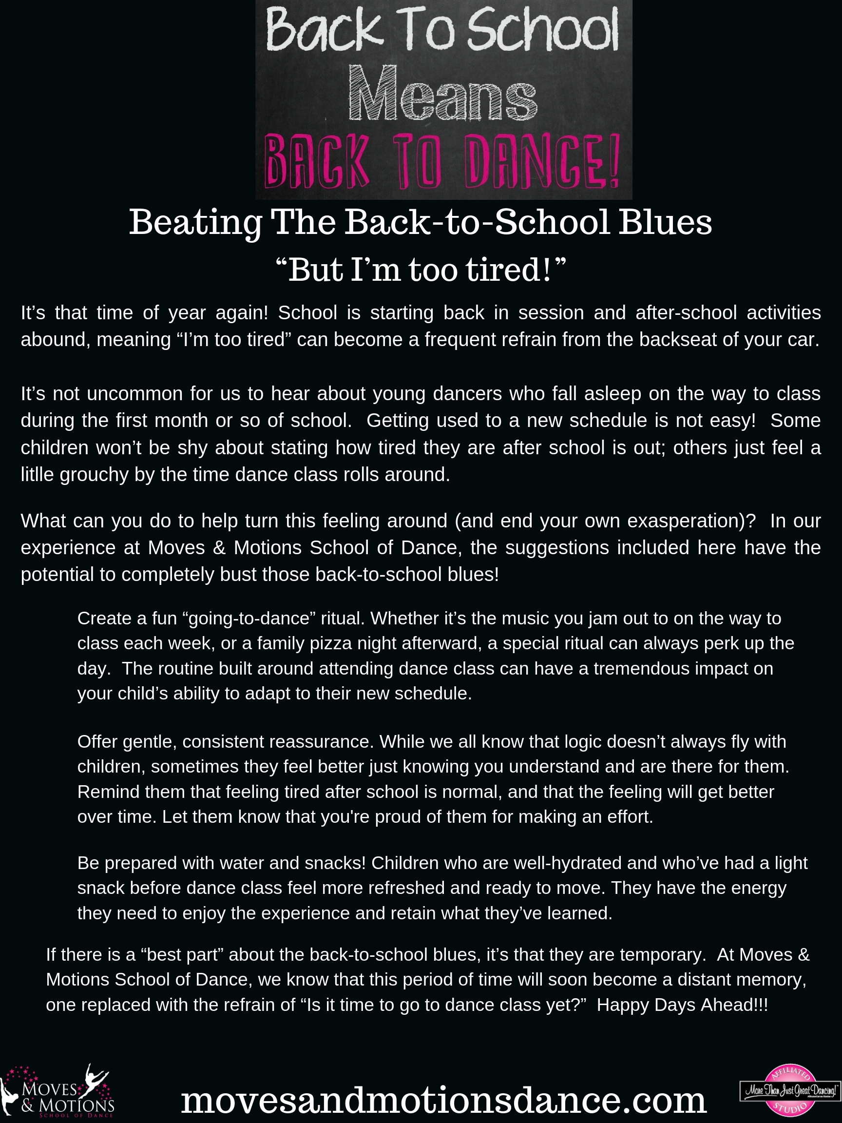 Beating The Back To School Blues – Moves & Motions School of